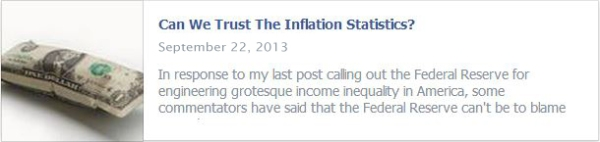Can We Trust The Inflation Statistics?