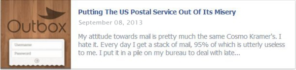 Putting The US Postal Service Out Of Its Misery