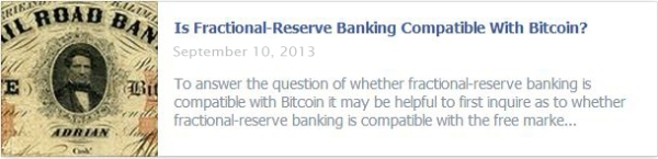 Is Fractional-Reserve Banking Compatible With Bitcoin?